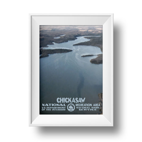Chickasaw National Recreation Area Poster - National Park Life