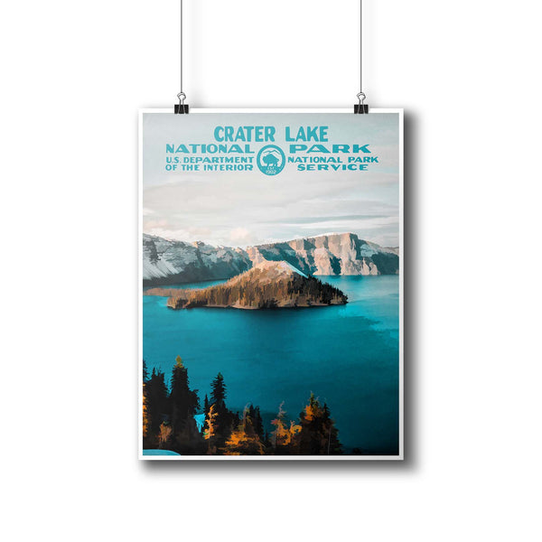 Crater Lake National Park Poster - National Park Life