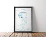 Toilet Paper Patent Poster | Toilet Paper Patent Art | Blueprint Art | Patent Wall Art | Bathroom Patent Print | Bathroom Art - National Park Life