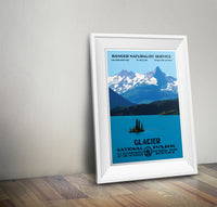 Glacier National Park Poster (St. Mary Lake) - National Park Life