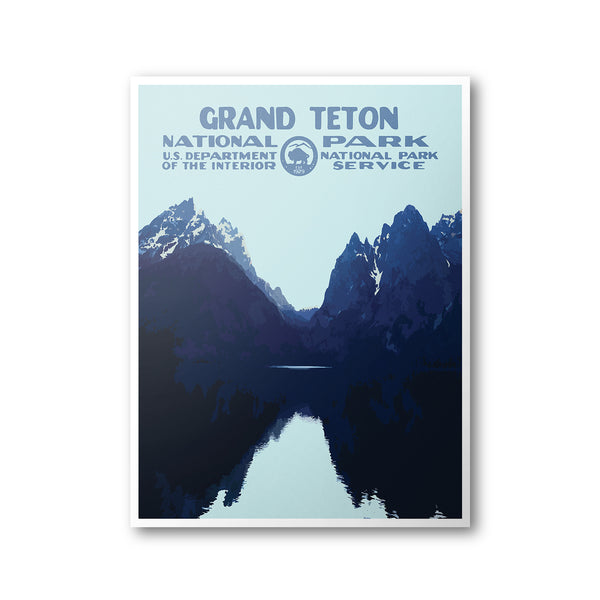 Grand Teton National Park Poster (Lake) - National Park Life