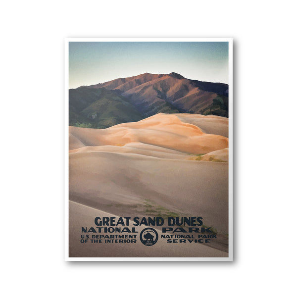 Great Sand Dunes National Park Poster - National Park Life
