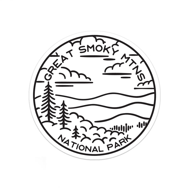 Great Smoky Mountains National Park Sticker | National Park Decal - National Park Life