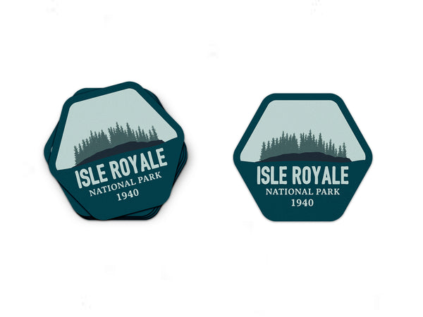 Isle Royale National Park Sticker | National Park Decal - National Park Life
