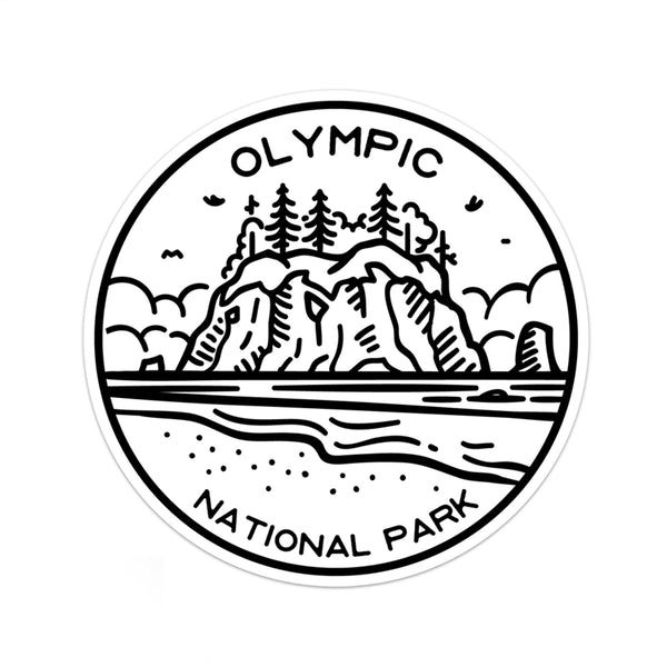 Olympic National Park Sticker | National Park Decal - National Park Life