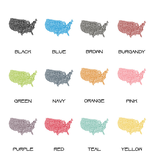 National Park Typography PosterCustomizable Colors