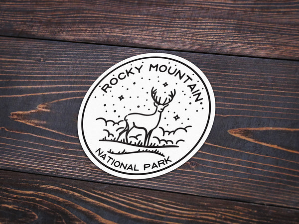 Rocky Mountain National Park Sticker | National Park Decal - National Park Life
