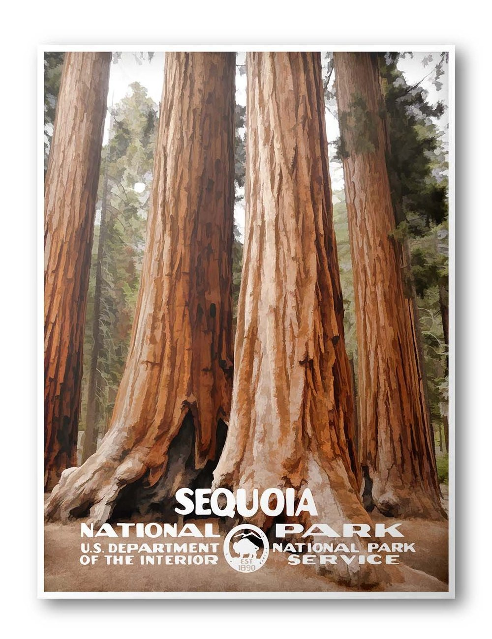 Sequoia National Park Poster - National Park Life