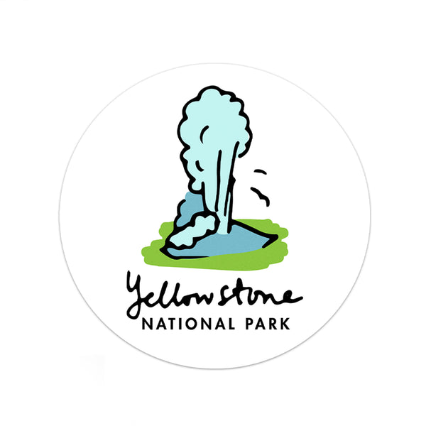 Yellowstone National Park Sticker - National Park Life
