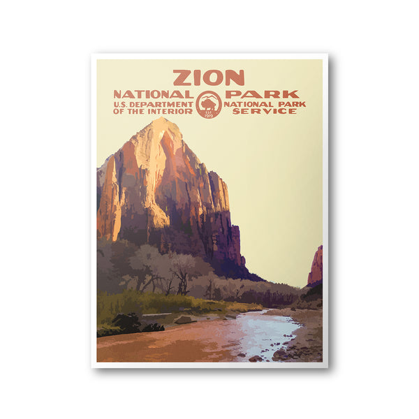 Zion National Park Poster (Virgin River) - National Park Life