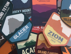 National Park Stickers | 3, 6 & 10 Pack | Mix & Match - National Park Life