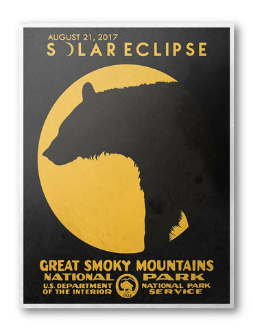 Great Smoky Mountains National Park Solar Eclipse 2017 Poster - National Park Life