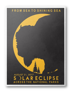 Great American Solar Eclipse 2017 National Park Poster - National Park Life