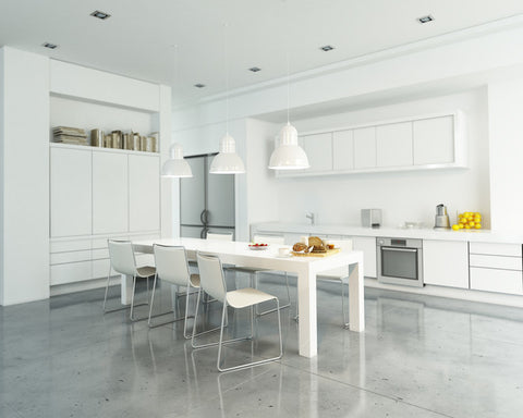 clean white minimal kitchen