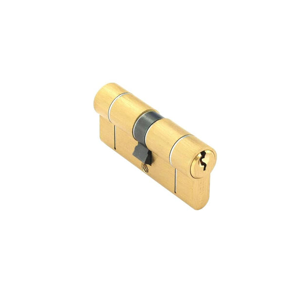 Securit Anti-Snap & Bump Euro Cylinder - 35 x 35mm - Polished Brass - Eurofit Direct
