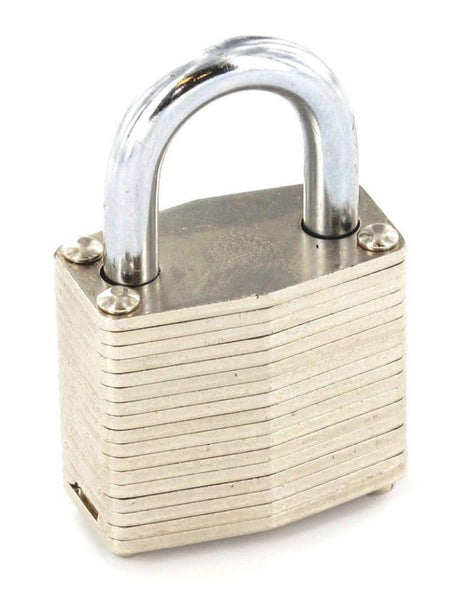Laminated Padlock with Brass Cylinder - 50mm - Eurofit Direct