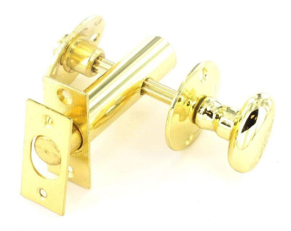 Securit Security Bolt with Thumburn & Release - Brass plated