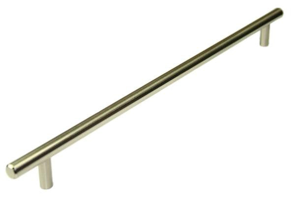 T Bar Handle Length 402mm (Hole Centres 342mm) Brushed Nickel - Eurofit Direct