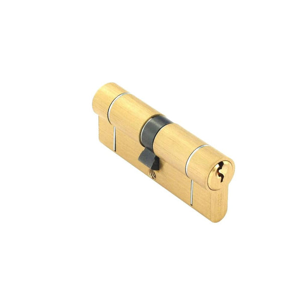 Securit Anti-Snap & Bump Euro Cylinder - 40 x 40mm - Brass