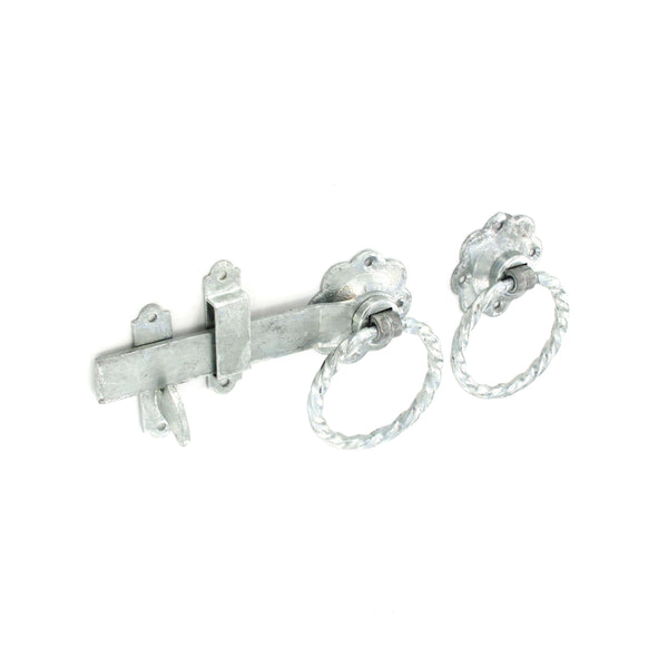 Twisted Ring Gate Latch - 150mm - Galvanised