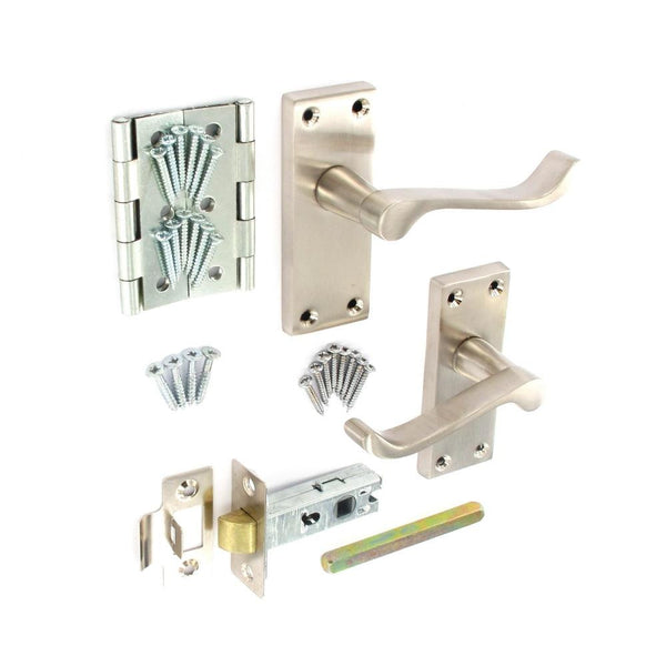 Scroll Internal Door Furniture Pack - Brushed Nickel