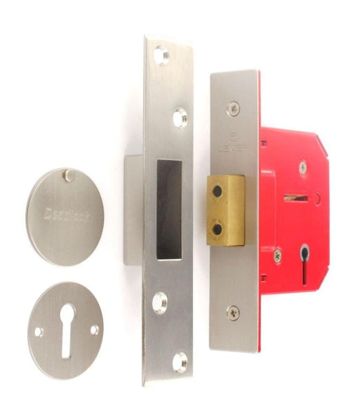 5 Lever Mortice Dead Lock - Nickel Plated