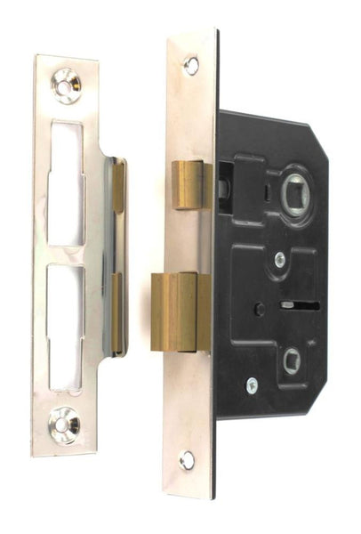 Securit Bathroom Mortise Lock - Size 63mm - Brass Plated - Eurofit Direct