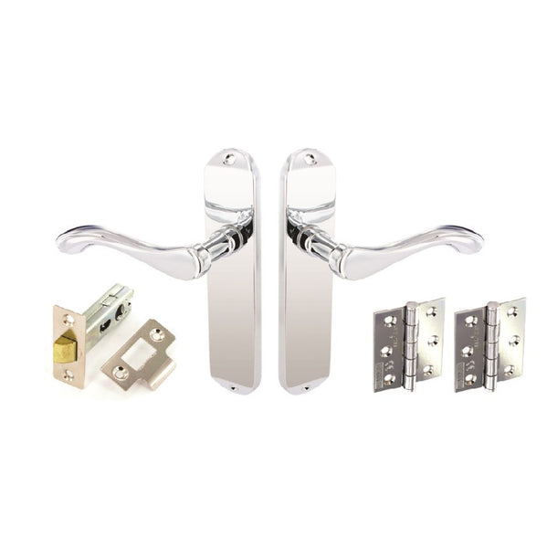 Securit Premier Europa Internal Door Furniture Pack - Chrome Plated
