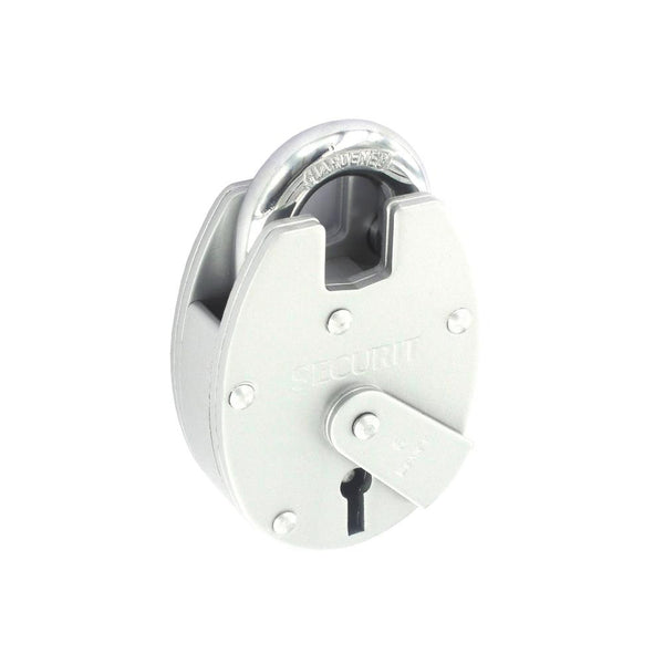 6 Lever Close Shackle Padlock - Nickel Plated