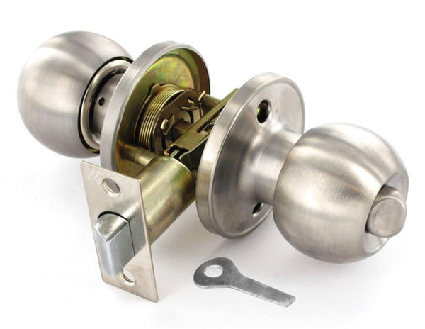Securit Door Knob Set - Privacy - Brushed Stainless Steel