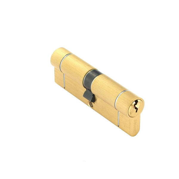 Securit Anti-Snap & Bump Euro Cylinder - 45 x 45mm - Brass