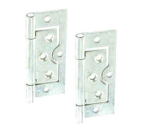 Flush Hinge H75 x W33 x T1mm Zinc Plated Steel