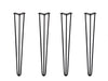 "Hairpin Legs 710mm / 28"" Height 3 Rod 12mm Thickness Black"