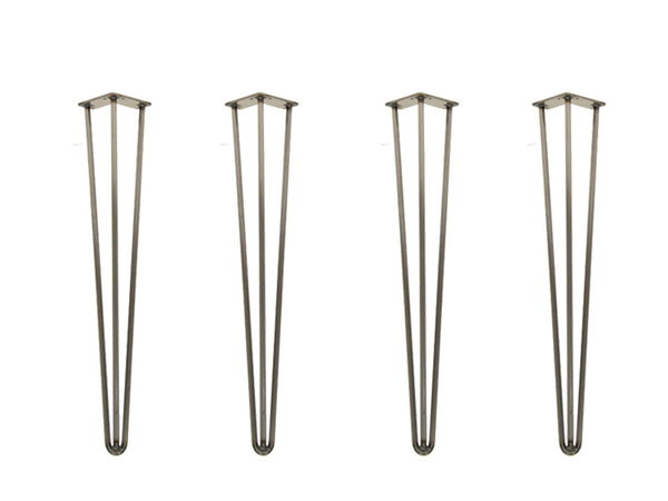 "Hairpin Legs 710mm / 28"" Height 3 Rod 12mm Clear Lacquer"