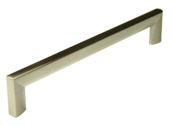D Handle Length 207mm (Hole Centres192mm) Brushed Nickel - Eurofit Direct