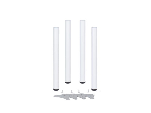 Table Legs 60 x 690mm With 30mm Adjustment - White