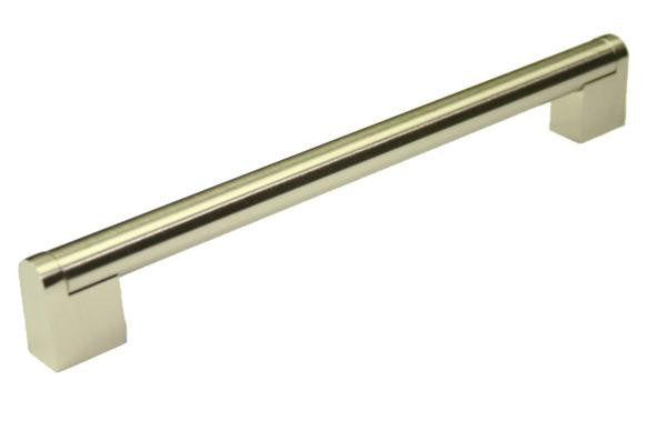Bar Handle Length 220mm (Hole Centres 192mm) Brushed Nickel