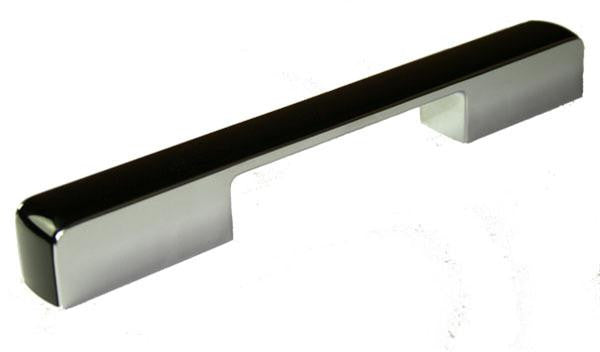 Chunky D Handle Length 246mm (Hole Centres 160/224mm) Chrome / Black - Eurofit Direct