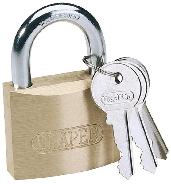 Draper 30mm Brass Cylinder Padlock - Eurofit Direct