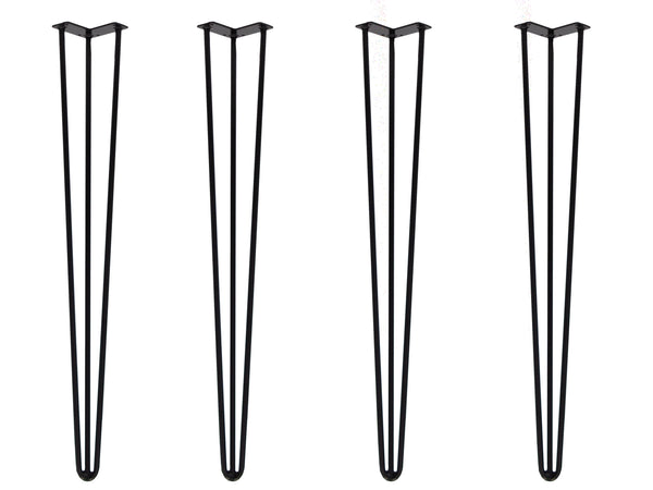 "Hairpin Legs 860mm / 34"" Height 3 Rod 12mm Thickness Black"