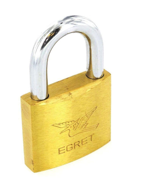 Egret Padlock with Long Shank & Keyed Alike - 60mm - Brass.