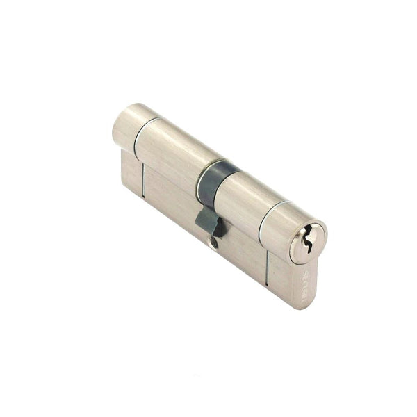 Securit Anti-Snap & Bump Euro Cylinder - 40 x 50mm - Nickel Plated