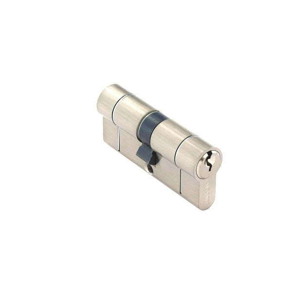 Securit Anti-Snap & Bump Euro Cylinder - 35 x 35mm - Brushed Nickel Plated