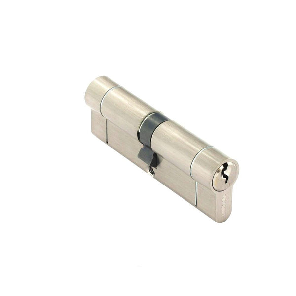 Securit Anti-Snap & Bump Euro Cylinder - 45 x 45mm - Nickel Plated - Eurofit Direct