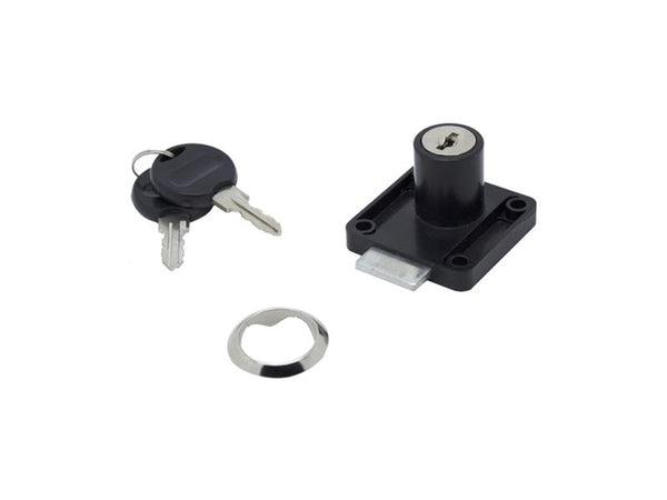 Drawer Lock - 22mm - Black - Plastic