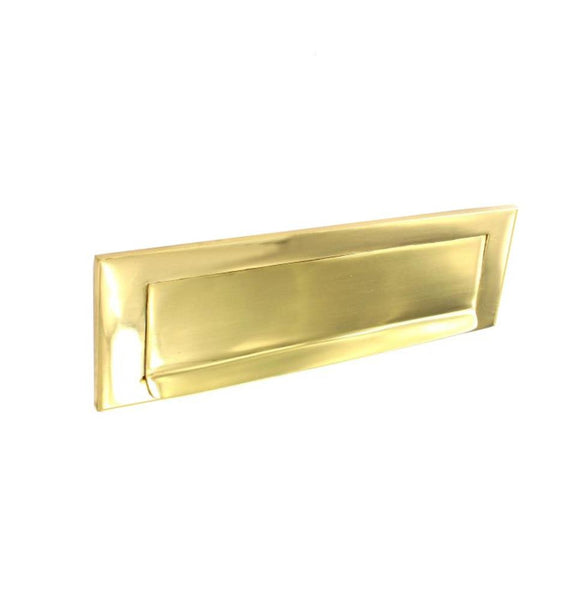 Victorian Letter Plate Gravity Close - Brass - Eurofit Direct
