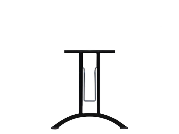 Folding Table Frame 690 x 590mm Curved Foot Black