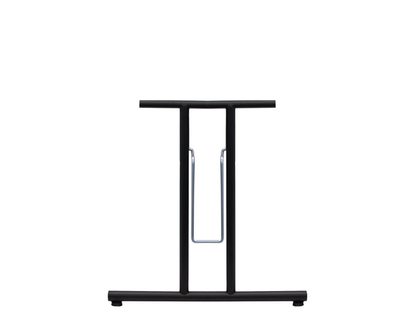 Folding Table Frame 690 x 590mm Straight Foot Black
