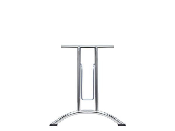 Folding Table Frame 690 x 590mm Curved Foot Chrome Plated