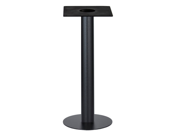 IntAfit Table Base For Integrated Cable Management Black Base & Column - D500 x H1100